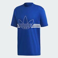 BNWT Adidas Originals Outline Trefoil T-Shirt Medium M RRP £25 EJ8790 Royal Blue