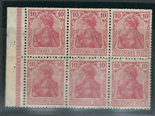 Germany Stamps HB 1 II Bklt Pane MLH VF 1910 MCV €45