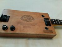 Cigar BOX GUITAR-3-string  FLAMED MAPLE +RoseWood NECK(BEAUTIFUL) BY G.J.M.