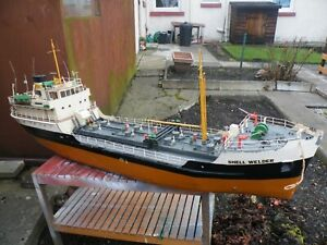 1/32 SCALE -SHELL WELDER COASTAL TANKER-WORKING ANCHOR AND WATER JETS