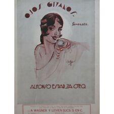 Esparza Oteo Alfonso Ojos Gitanos Serenata Singer Piano 1932 Sheet Music