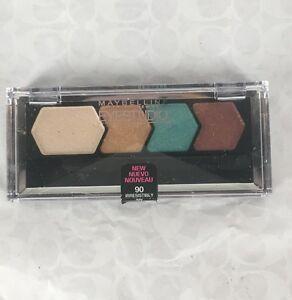NEW Maybelline Eye Studio Color Plush Silk Eyeshadow Quad in Irresistibly Ivy 90