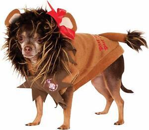 Cowardly Lion Dog Costume - Wizard of Oz - EXTRA LARGE - Fleece - Rubies - NWT