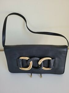 Michael KORS Black leather Clutch small handbag