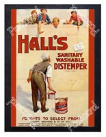 Historic Hall's Distemper, Sisson Brothers & Co Ltd, 1900s Advertising Postcard