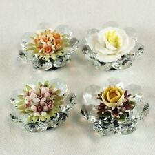 DLM26049 Calamita in Cristallo con Fiore in Ceramica Assortiti bomboniera