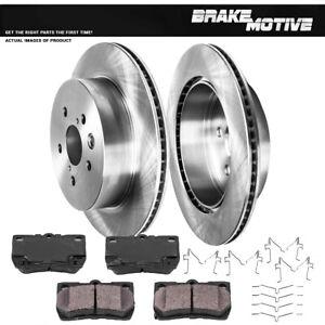 For Lexus GS300 GS350 GS430 GS450H GS460 IS350 Rear Brake Rotors & Ceramic Pads