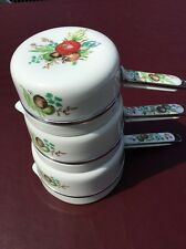 French Limoges Porcelain Aluminite Frugier Cookware  Set of 3