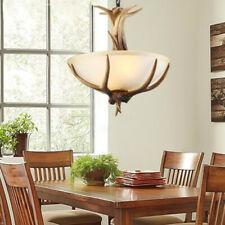 Antler single head chandelier American country pendant light aisle bedroom lamps