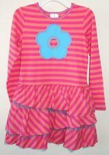 New Hanna Andersson Stripe Applique Tutu Dress ~ Girl's Size 140, 9-11
