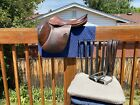 Butet saddle L17 1997 dark brown used good condition jumper close contact