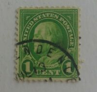 1 Cent Ben Franklin Lime Green STAMP RARE Loose