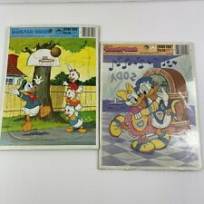 Donald Duck Disney Golden Brand Frame Tray Puzzle Lot of 2 Vintage Collectible
