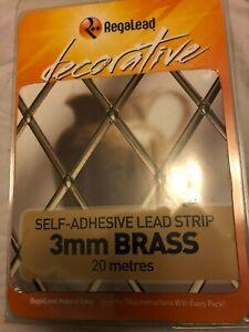 Regalead 3mm Brass Lead Craft Pack 20 metres, window leading kit