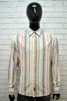 Camicia a Righe Uomo NAPAPIJRI Taglia XL Maglia Polo Manica Lunga Shirt Man