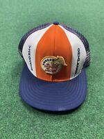 Vintage UVA Univ of Virginia 1984 Peach Bowl Hat Trucker Football Rare USA