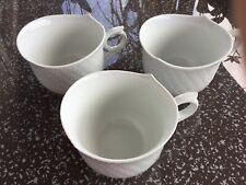 Kaffeebecher Haferl Kaffeepott große Tasse Meissen weiß Wellenspiel 1. Wahl