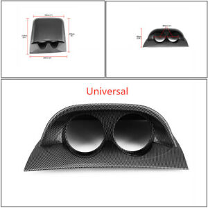 """Carbon Fiber Car SUV 2"""" 52mm UniversalDouble Hole DashBoard Gauge Pod Holder"""