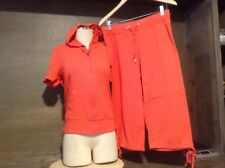 New York & Company RED Athletic Women's Size M Zip-up W /Hoodie AND CAPRIS
