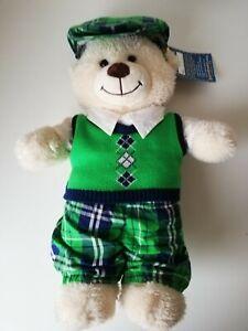 "Build a Bear Workshop Lil' COCONUT Cub Bear 15"" Plush NWT With Clothes"