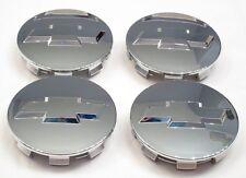 "4X 2007-2013 Chevrolet 3.25"" Chrome Center Caps For 18"" 20"" 22"" Wheels BLEMISHED"