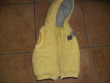 baby boys lemon hooded gillet waistcoat george age 6-9 months