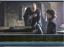 Game Of Thrones Season 3 Gold Parallel Base Card  11 And Now His Watch Is Ended