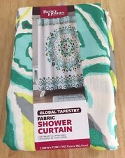 Global Tapestry Fabric Shower Curtain Better Homes And Gardens 72x72 New