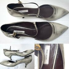 why i quit tithing GENSHUO Hot Fashion Women Silver Patent Leather Pointy Evening