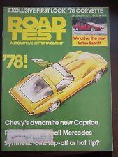 Road Test Magazine December 1976 Caprice Corvette Mercedes Lotus Esprit (AN)