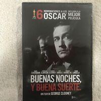 BUENAS NOCHES Y BUENA SUERTE DAVID STRATHAIRN PATRICIA  DVD NUEVO NEW PRECINTADO