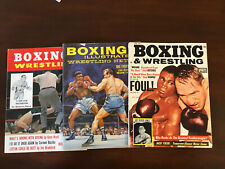 Lot Of 3 Boxing And Wrestling Magazines 1960's
