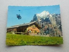 VINTAGE SWISS SMALL COLOUR PHOTOGRAPH BERGBAHN GRINDELWALD FIRST BORT WETTERHORN