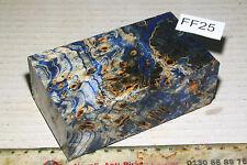 Griffblock Pappel Maser Holz farblos blau stabilisiert puq FF25