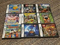 Lot of 9 Nintendo DS 3DS EMPTY Game Cases with 8 manuals - no games