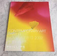 Phillips de Pury NY CONTEMPORARY Art Part II November 12 2002 Auction Catalog