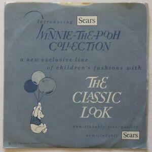 Walt Disney Record WINNIE THE POOH Disneyland LG-785-S / RARE SEARS PROMO
