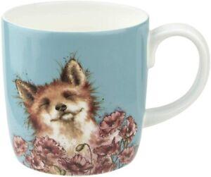 Royal Worcester Wrendale Designs 14oz Poppy Field Mug (Fox), Fine Bone China