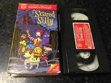 SCARED SILLY VHS VIDEO-THE WACKY ADVENTURES OF RONALD MCDONALD-FREE SHIPPING