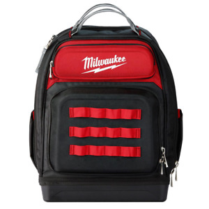 Milwaukee Tool Backpack 15 in. W Hard-Molded Base Polyester Red (46-Pocket)