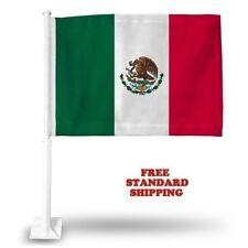 "MEXICO MEXICAN World Cup Soccer Car Flag FLAGS CAR WINDOW 18"" X 12"" INCH USA"