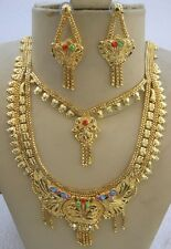 Brass Gold Plated Ethnic Handmade Jewelry Festival Bollywood Wedding Party Rave