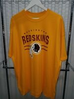 RARE NFL Team Apparel Washington Redskins T-Shirt Yellow Men's 2XL WAS Football