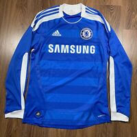 Adidas Chelsea Long Sleeve Jersey 2011 Home Mens Small