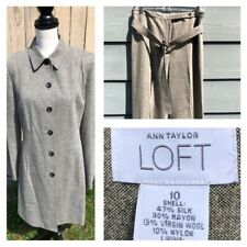 Ann Taylor LOFT Women's Beige/Gray Formal Work Coat Size 10 / Pant 30 x 31