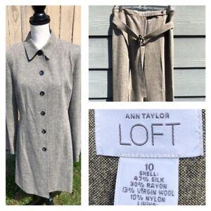 Ann Taylor LOFT Women's Beige/Gray Formal Work Coat Size 10 / Pant 30 x 31