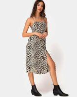 MOTEL ROCKS Kaoya Midi Dress in Cheetah Medium M  (MR64)