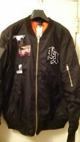 Men's H&M Divided Black Lined Bomber $59.99 BRAND NEW with TAG Size XL or MEDIUM