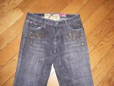 7 FOR ALL MANKIND THE GREAT CHINA WALL JEAN RIVETS RHINESTONE WAIST 26 LENGTH 30