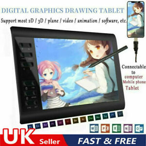 """10x6"""" Digital Graphics Drawing Tablet Artist Board Pad For Phone Android System"""